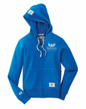 PWCI 2018 LADIES ROOTS 73 EVENT LOGO BROCKTON FLEECE FULL ZIP HOODY, BALTIC BLUE
