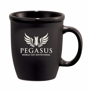 PWCI EVENT LOGO CAFE AU LATE CERAMIC MUG, BLACK