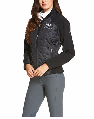 PWCI LADIES' ARIAT OFFICIAL LOGO BRISK JACKET BLACK