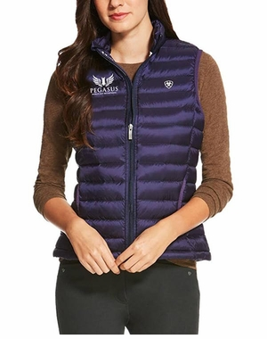 PWCI LADIES' ARIAT OFFICIAL LOGO IDEAL DOWN VEST, ECLIPSE