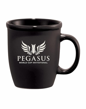 PWCI OFFICIAL LOGO CAFÉ AU LATE CERAMIC MUG, BLACK
