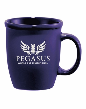 PWCI OFFICIAL LOGO CAFÉ AU LATE CERAMIC MUG, ROYAL