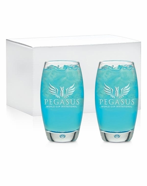 PWCI OFFICIAL  LOGO OXYGEN COOLER GLASS, SET OF TWO
