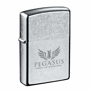 PWCI OFFICIAL LOGO WINDPROOF LIGHTER, CHROME