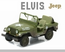 1:43 Elvis Presley (1935-77) - Cold War Era Willy's Army Jeep