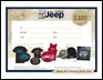 $100.00 All Things Jeep Gift Certificate