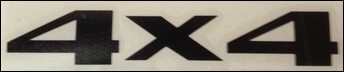 """""""4x4"""" Replacement Decal (5"""" x 1"""")"""