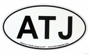 """ATJ Oval """"Euro"""" Sticker (for our fans!)"""