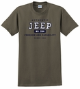"""Authentic Jeep"" Short Sleeved Shirt in Green"