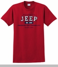 """""""Authentic Jeep"""" Vintage Red Short Sleeved Shirt"""