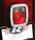 Bead Lock Taillight Bezel, Brushed Aluminum, 76-06 CJ and Wrangler