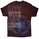 Big Live Without Limits Jeep Tee, Men's Heathered Maroon