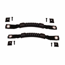 Black Door Grab Strap Pair for Jeep CJ and YJ (1976-1995)