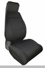 Neoprene Front Seat Covers Wrangler JK 2011-2017 Black Rugged Ridge