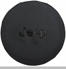 Black Tire Cover with Jeep Logo in Black, 32 Inch x 10 Inch