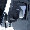 Black Driver Side Mirror for Jeep Wrangler TJ and LJ (1997-2006)