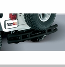 Black Rear Tube Bumper With Hitch for Jeep CJ (1955-1986)