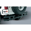 Textured Rear Tube Bumper w/Hitch for Jeep Wrangler YJ, TJ, LJ