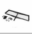 Cargo Rack w/ Receiver Hitch Wrangler JK 2007-2017 Black Rugged Ridge