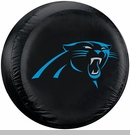 Carolina Panthers NFL Tire Cover - Black Vinyl