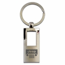 Chrome Jeep Rectangle Keychain