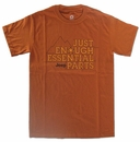 CLOSEOUT (Small only) - Just Enough Essential Parts Men's Orange Jeep Shirt