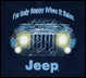 """CLOSEOUT (XL Only) Jeep® Kid's Tee - """"I'm Only Happy When it Rains"""""""