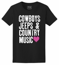 Country Jeep Life Women's T-Shirt in Black
