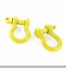 "D-Ring 3/4"" 9,500 lb Work Load Limit in Yellow by Rugged Ridge Pair"