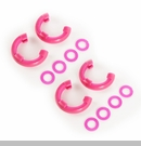 "D-Ring Isolator Kit for 3/4"" D-Rings in Pink by Rugged Ridge - 2 Pairs"