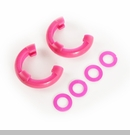 "D-Ring Isolator Kit for 3/4"" D-Rings in Pink by Rugged Ridge - Pair"