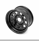 "D Window Steel Wheel 17x9"" 5x5"" Bolt Pattern Wrangler JK 2007-2017 Blk"