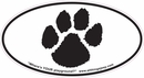 "Dog Paw Print Oval ""Euro-Style"" Sticker"