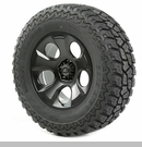 "Drakon Wheel/Tire Package Wrangler 2007-2012 20x9"" Black 37x12.50x20"