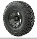 "Drakon Wheel/Tire Package Wrangler 2013-2017 17x9"" Black 37x12.50x17"