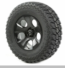 "Drakon Wheel/Tire Package Wrangler 2013-2017 20x9"" Black 37x12.50x20"