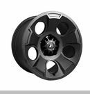 Drakon Wheel Wrangler JK 2007-2017 Black Satin by Rugged Ridge - 17x9""