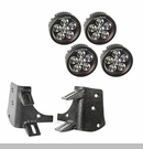 "Dual A-Pillar LED Light Mount Kit Wrangler 1997-2006 Blk 3.5"" Lights"
