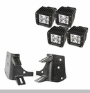 "Dual A-Pillar LED Light Mount Kit Wrangler 1997-2006 Blk 3"" Lights"