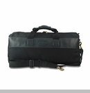 Duffel Bag Canvas/Leather Large Black Back Trail Outfitters