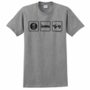 """Eat, Sleep, 4x4"" Unisex Short Sleeved T-Shirt"