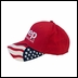 Embroidered All American Flag Jeep Hat, Red