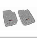 All Terrain Front Floor Liner Wrangler JK 2007-2017 Gray Rugged Ridge