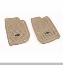 Floor Liner Wrangler JK 2007-2017 Front Tan Rugged Ridge
