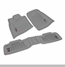 Floor Liner Kit for Jeep Grand Cherokee 2011-2017 Gray by Rugged Ridge