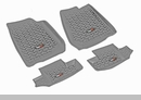 All Terrain Front & Rear Floor Liner Kit Wrangler JK 2D 2007-2017 Gray