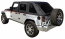 Frameless Sailcloth Soft Top w/ Tint Windows Wrangler JK 4D 2007-2017