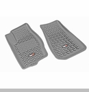 Frnt Floor Liners Jeep Compass & Patriot 2007-2017 Gry Rugged Ridge
