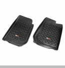 Front Floor Liners, Right-Hand Drive Jeep Wrangler 2007-2017 Black