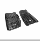 Frnt Floor Liners with Jeep Logo Jeep Cherokee 1984-2001 Blk